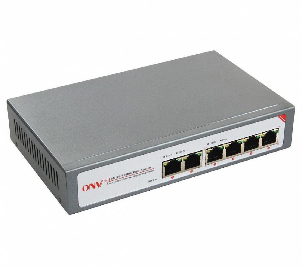 6 портовый PoE коммутатор ONV-POE33064PN